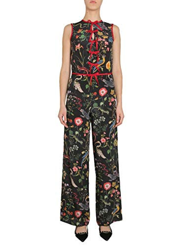 Used, Red Valentino Women's Qr3ve0n53t4ono Black Silk Jumpsuit for sale  Delivered anywhere in USA