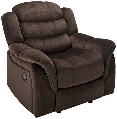 Christopher Knight Home 296448 Blake Fabric Glider Recliner Chair, Brown (Best Deals On Recliner Chairs)
