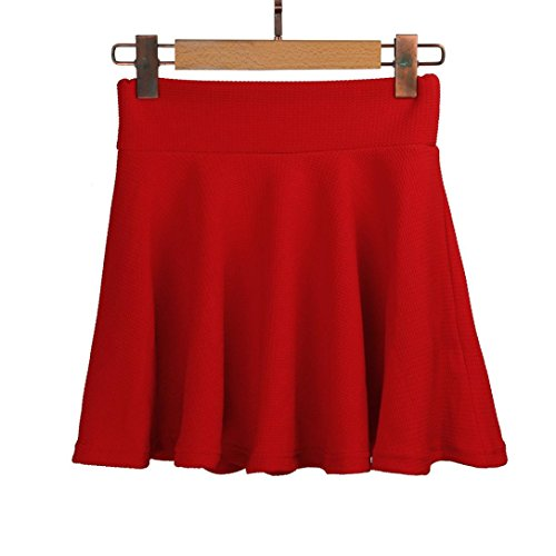 Plisse Mini Rouge Courte Jupe Haute Jupes vase Lady ESAILQ Femmes Jupes Taille Patineuse CxTYqq1
