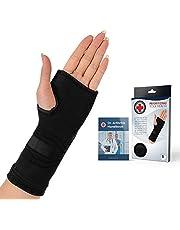Doctor Developed handbok för hand- och handkompressionshylsor/stöd/brace & Doctor skriven handbok   Palmskydd med geldyna, optimal komfort + stöd för ledsmärta, karpaltunnel, RSI och mer (S, Black)