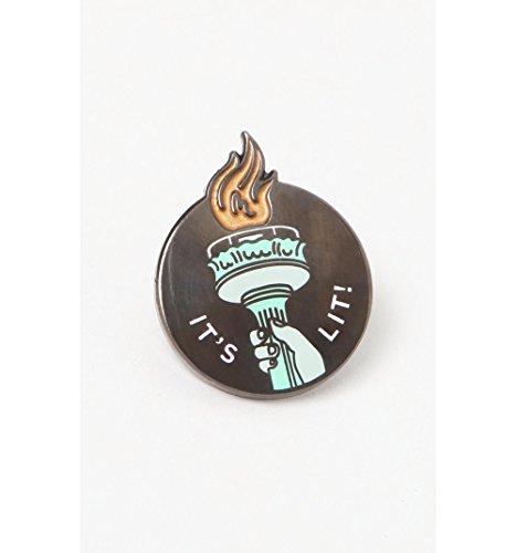 Pintrill Mens It's Lit Torch Pin