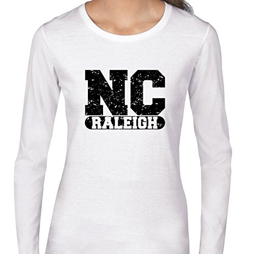 Raleigh, North Carolina NC Classic City State Sign Women's Long Sleeve T-Shirt -