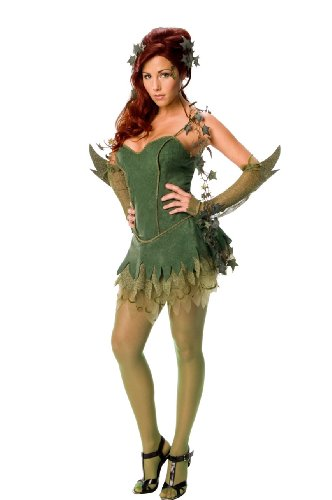 Secret Wishes Batman Poison Ivy Costume, Green, Medium