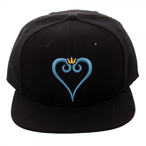 Kingdom Hearts Embroidered Logo Snapback Baseball Hat (Kingdom Hearts Hat)