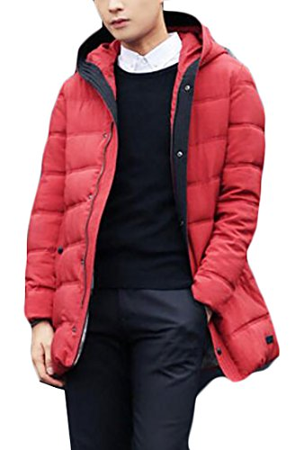 Hot Sale-UK Men's Windproof Warm Hooded Thick Duck Down Long Down Coat Jacket 2