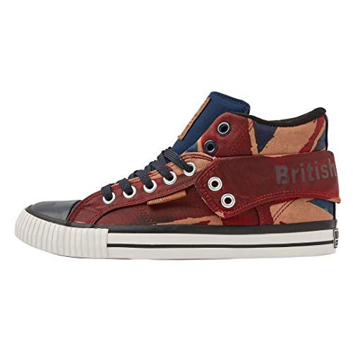 Jack Homme Union Roco British 01 Rouge Baskets Knights Red Beige Hautes Navy q1IwIOz5v