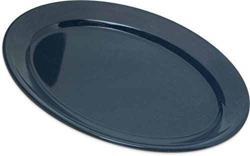 Amazon Com Carlisle 4356035 Dallas Ware Melamine Oval Platter Tray 12 X 8 50 Café Blue Pack Of 24 Industrial Scientific
