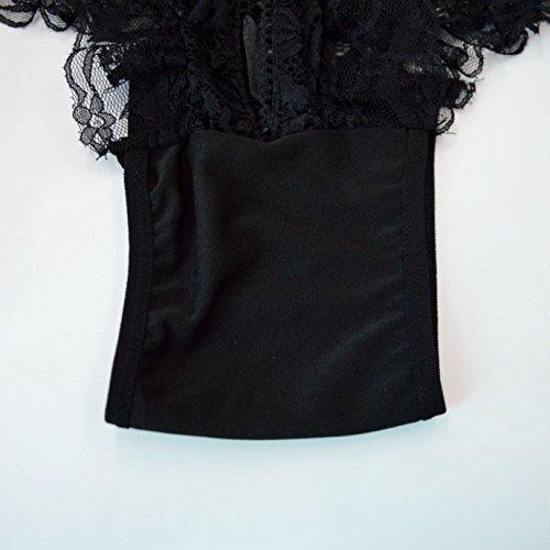 LAHAUTE Damen Höschen für Erwachsene Unterhose öffnen Slip Spitze-Unterwäsche