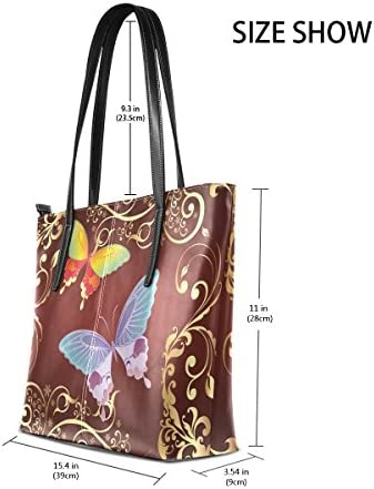 COOSUN Papillons PU Sac Sac à bandoulière en Cuir et Sacs à Main Sac fourre-Tout pour Les Femmes Moyen muticolour