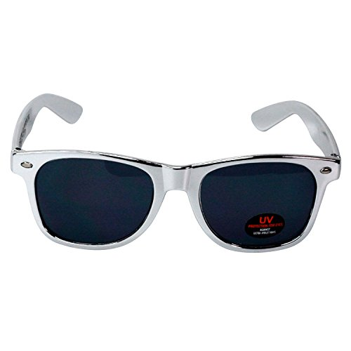 Wayfarer Sunglasses for Men, Women & Kids by Ray Solée- 3 Pack of Tinted Lenses with UVA & UVB Protection (Red,Blue,Silver, Black) by Ray Solée (Image #5)