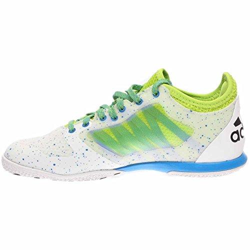 adidas Mens X 15.1 Court White/Black/Semi Solar Slime 36llqab