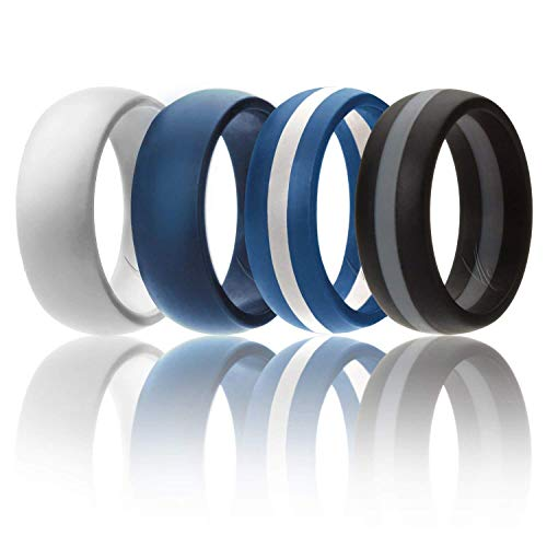 ROQ Silicone Wedding Ring for Men, Silicone Rubber