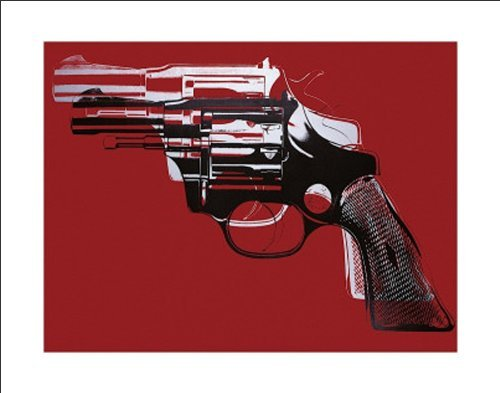 Beyond The Wall Andy Warhol Gun Celebrity Pop Art Icon Poster Print (11x14 Framed Poster)