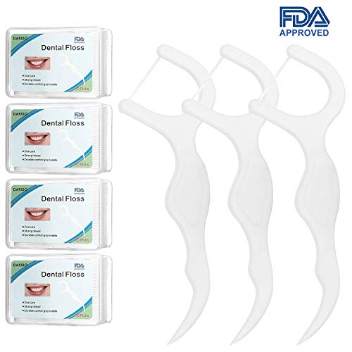 Dental Floss,DARIDO Dental Floss Picks 4 Packs with Travel Handy Case, 200 Counts Dental Floss Picks by DARIDO (Image #8)