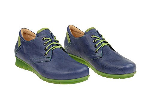 Mujeres Zapatos planos jeans/kombi azul, (jeans/kombi) 80070-84