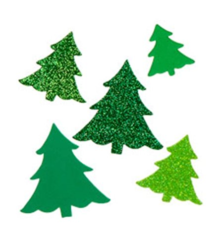 120 Piece Foam Christmas Tree Peel and Stick Stickers toyco