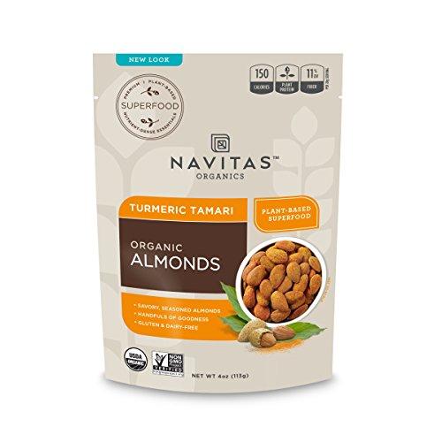 - Navitas Organics Turmeric Tamari Almonds, 4 oz. Bags (3 Pack) — Organic, Non-GMO, Gluten-Free, Refined Sugar-Free