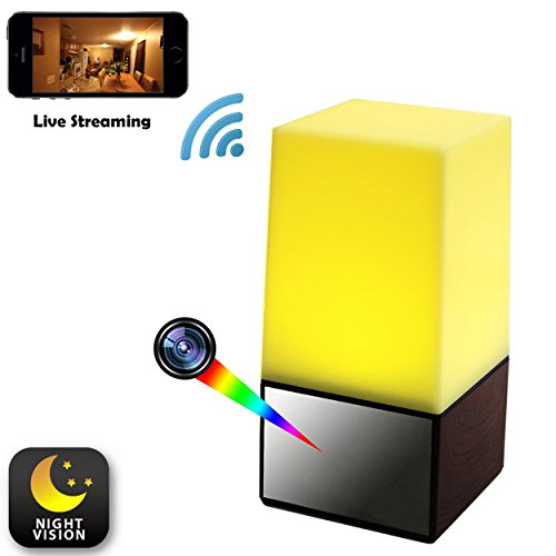 WiFi Night Light Hidden Camera - Spy Camera - Live View Nanny Cam - Motion Detection - Phone Notifications - 2-Way Intercom - 1080P High Definition - Baby Monitor