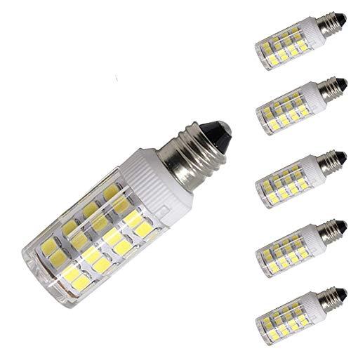 Cooper Crystal Table Lamp - led E11 Dimmable Bulb Mini Candelabra E11 Base T4 JD 110V-120V LED Halogen Replacement Bulb, 5W, 35W-40W Equivalent, Daylight White 6000K(5 Pack)
