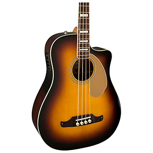 Fender Kingman Acoustic Bass Guitar with Fishman pickup and cutaway - 3-Color Sunburst - Pau Ferro Fingerboard ()