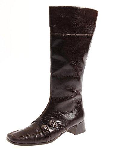 Rieker Lederstiefel Stiefel Leder Damenstiefel für Winter rotbraun 3388