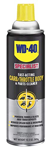 WD-40 Specialist Carb/Throttle Cleaner, Fast-Acting Parts Cleaner, 13.5 OZ - Motorcycle Throttle Body