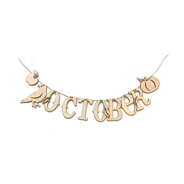 ADORNit, DIY Wood Swag Banner Hanger, Home Decoration – October