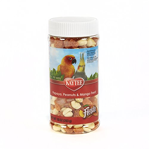 Kaytee Fiesta Papaya, Peanuts And Mango Treat For All Pet Birds, 10-Oz - Jar Parrot