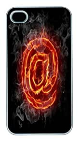 Fire At Custom iPhone 4s/4 Case Cover Polycarbonate White