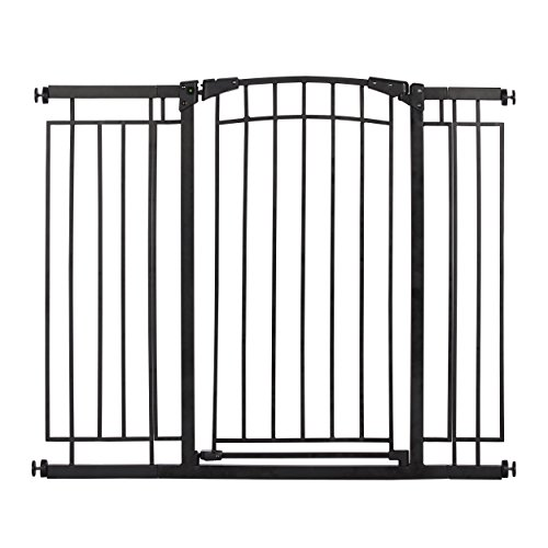 Evenflo Multi-Use Decor Tall Walk-Thru Gate, Black Metal For Sale