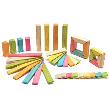 40 Piece Tegu Explorer Magnetic Wooden Block Set, Tints