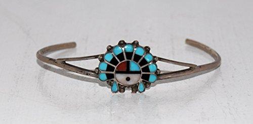 Authentic Zuni Inlaid Sun God Bracelet VINTAGE ()