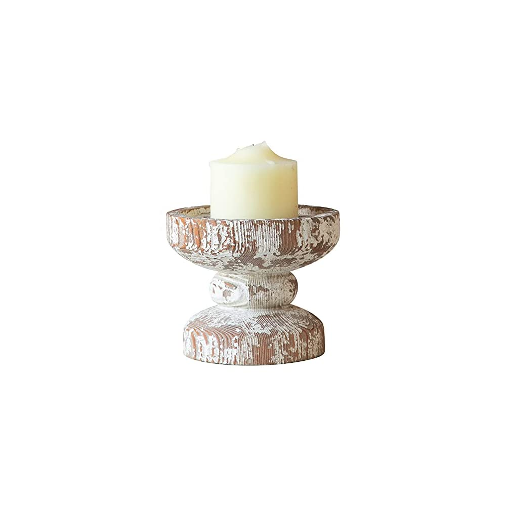 Hand Crafted Wooden Candle Holders Pillar, Candle Holders for Candlesticks, Farmhouse Shabby Chic Candle Holders for…