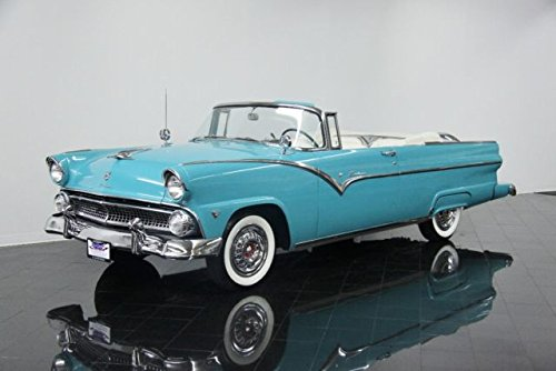 1955 Ford E Sunliner Convertible Picture on Mouse Pad mousepad Classic Vintage Old Cars Hot Rods Speed Computer Desktop Supplies
