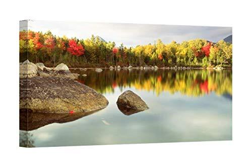 (Easy Art Prints Panoramic Images's 'Baxter State Park ME' Premium Canvas Art 24 x)