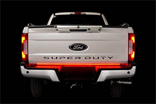 Putco 92010-60 RED Blade LED Tailgate Light Bar 60 in. Blade LED Light Bar w/Blis And Trailer Detection RED Blade LED Tailgate Light Bar