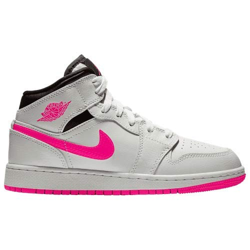 GS 555112-106 White//Hyper Pink Nike AIR Jordan 1 MID US 9 Youth