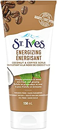 St. Ives Face Scrub for pampered, soft skin Coconut and Coffee 100% naturally sourced exfoliants 150 ml