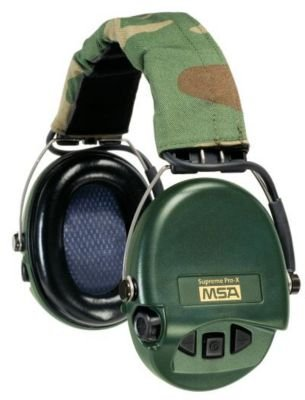 MSA Safety 10153220 Supreme Pro-X Earmuff with Black Headband, Green Cups