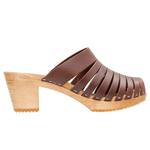 Moheda Womens Anna Leather Sandals Brown