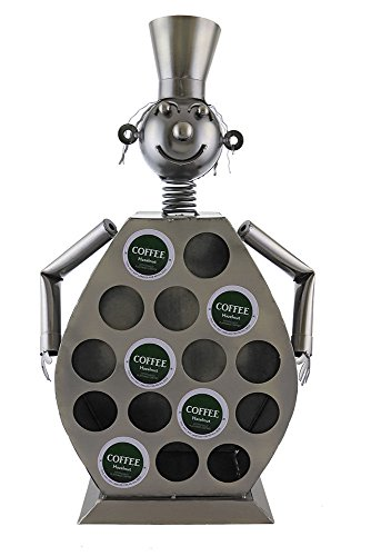 Ebros Large Professional Chef Kitchen Coffee Capsule Pod K-Cup Holder 20''Tall Statue Hand Made Steel Caddy Rack by Ebros Gift (Image #5)