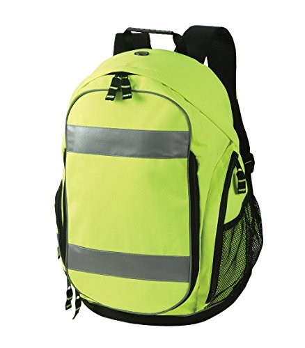 Safety Depot High Visibility Backpack with Shoe Compartment, Headphone Jack Opening, Wet & Dry Storage by Safety Depot