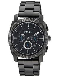 Fossil Men's FS4552 Black Stainless Steel Bracelet Black Analog Dial Chronograph Watch