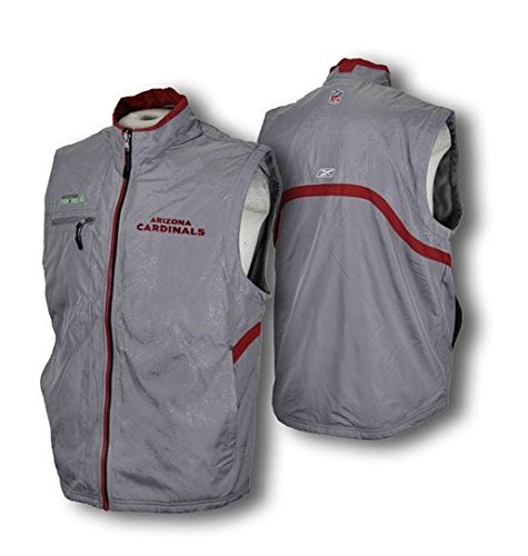 (Arizona Cardinals Coaches' Solar Vest, Full Zip, Gray (Large) )