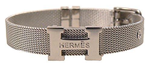 hm0102-h-logo-mesh-bracelet-silver-us-seller