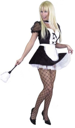 Adult Chamber Maid Costume Size: Women's X-Small 3-5 :Color: Black and white (Chambermaid Costume)