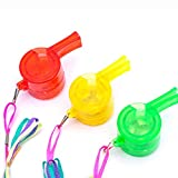 Roysberry Toys, Flashing Whistle Colorful Lanyard LED Light Up Fun in The Dark Party Rave, A Great Gift for Kids and Children