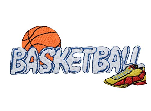 Basketball Word Iron on Embroidered Patch