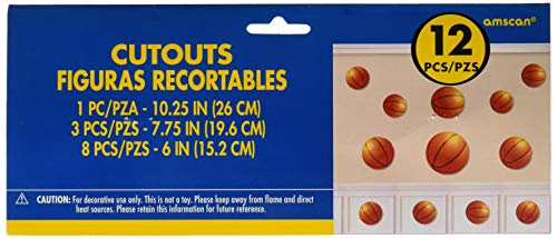 amscan Basketball Value Pack Assorted Cutouts, Party Decoration, 144 Ct. -