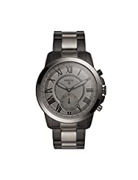 Fossil Q Grant Gen 2 Hybrid Smartwatch Black and Smoke-Tone Stainless Steel FTW1139